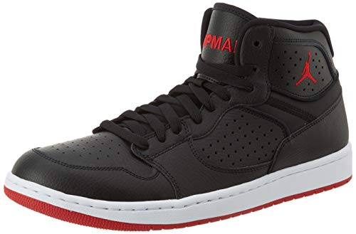 Nike Jordan Access, Basketball Shoe Mens, Black/Gym Red-White, 44.5 EU