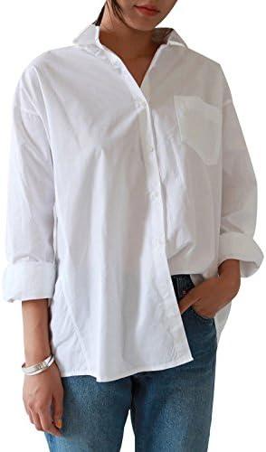 Cikuso - Camisa de manga larga para mujer, estilo casual ...