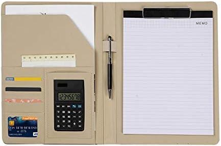 Porte Document Homme Dossier de Conf 233;rence en Cuir Portebloc A4 Organiseur de bureau avec stylo papier pour calculatrice pour r 233;unionbureaucarte de visite professionneldossier de conf 233;rence