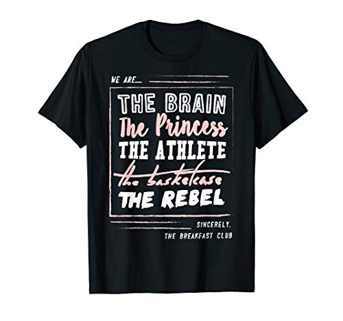 Breakfast Club We Are... Club Roster Graphic T-Shirt, Sizes for Adults and Youth, 5 Colors
