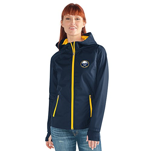 G-III Adult Women NHL Onside Kick Light Weight Jacket Buffalo Sabres, Navy, XX-Large