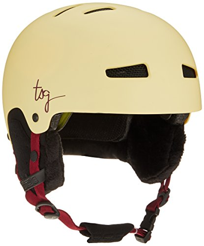 TSG Lotus Solid Color Helm, Satin Cream, L/XL