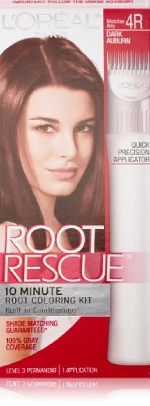 アクロバット化石ドナーRoot Rescue Dark Auburn by L'Oreal Paris Hair Color [並行輸入品]