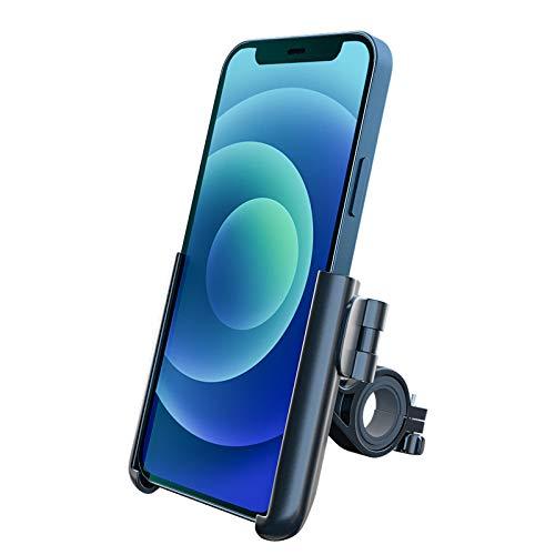 Grefay - Supporto universale per cellulare per bicicletta, moto, moto, supporto per cellulare per bici da corsa, MTB, scooter, con rotazione a 360 gradi, per smartphone da 3,5 a 7,0 pollici (nero)