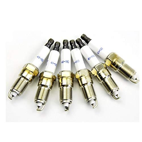 ADFIOSDO 6X Iridium Sujipador/Ajuste para Cadillac/Fit para Chevrolet/Fit para GMC/FIT para Hummer 41-110 12621258 41110 (Color : Metallic)