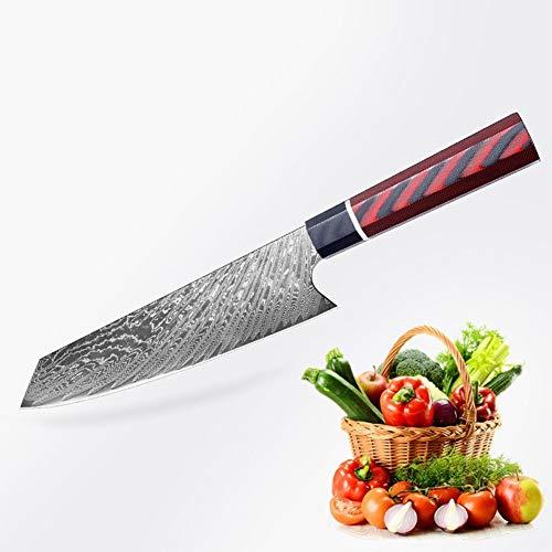 Couteau damas Damas Couteau de chef avec poignée G10 Couteau de cuisine en acier inoxydable maison poisson Sashimi couteau