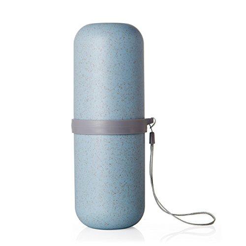 MZP tasse brosse à dents dentifrice tasse de dents Voyage lavage costume voyages d'affaires fournitures essentielles boîte de stockage portable , blue