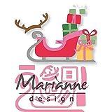 [page_title]-Marianne Design Collectables, Schlitten, für Detaillierte Stanzformen und Prägedetails im Papierhandwerk, Metall, rosa, 10,5 x 4,8 cm / 7 x 3,5 cm