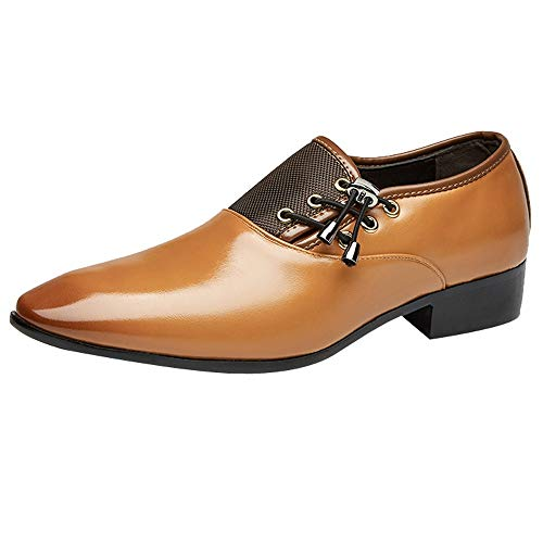 Celucke Derby Schuhe Herren Anzugschuhe Oxford, Feine Lederschuhe Herrenschuhe Full BrogueBusiness Schnürschuhe