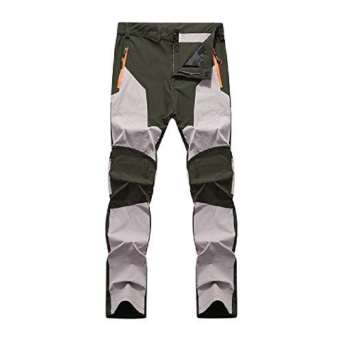 N\P Hombres impermeable secado rápido transpirable pantalones de los hombres patchwork senderismo camping pesca pantalones