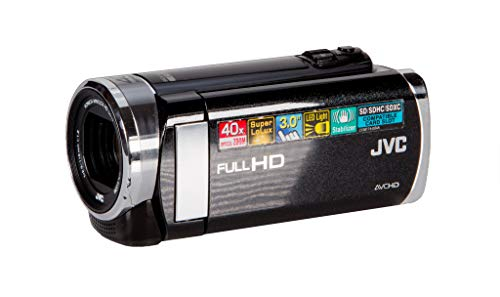 JVC GZ-E205 BE Everio Full HD Camcorder (40x Optical Zoom, Super LoLux, 3