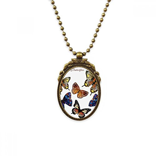 DIYthinker Mariposas alas de latón Antiguo Collar Vintage Colgante joyería Deluxe Regalo
