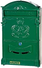 Maurer 3080605-cast aluminium outdoor tuin post box groen