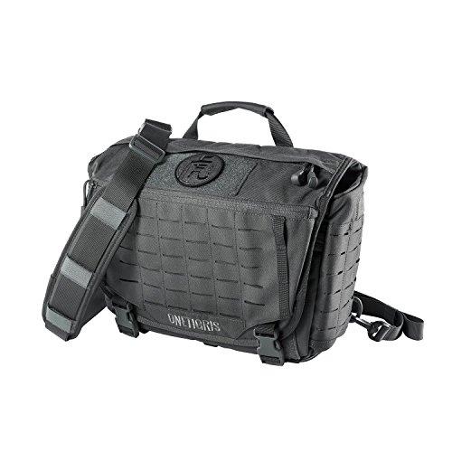 OneTigris HU Tactical Messenger Bag Lasercut MOLLE Laptop Shoulder Bag Shadow Grey