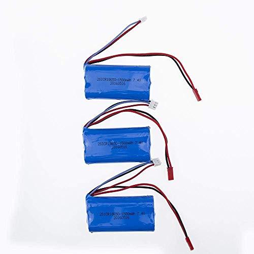 GzxLaY 3 pz / Lotto 7.4 V 1500 mAh Xpower Li-on 18650 Batteria per DH9053 9101 mjx f45 9118 Parti di Elicottero rc