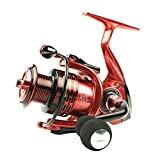 SHANG-JUN Bobina di pescabobine Convenzionali Bobine da Pesca 13 + 1BB 5.5: 1 Full Metal for Fish Feeder BaitCasting Reel Rindiano per Asta (Color : Red, Spool Capacity : 6000 Series)