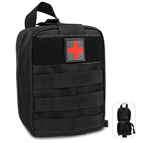 BEEYEO First Aid Kit Emergency Storage Bag to Roll Bar for Jeep Wrangler JK CJ TJ All Models Survival Rescue Case Tools Bags