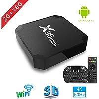 TV Box Android 7.1 - Aoxun X96MINI Smart TV Box Amlogic Quad Core, 2GB RAM & 16GB ROM, 4K*2K UHD H.265, HDMI, USB*2, 2.4GHz WiFi, Web TV Box, Android Set-Top Box, + 2 en 1 Ratón y Teclado