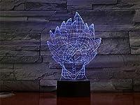 3DイリュージョンランプLedナイトライトドラゴンボールモンキーキングギフト用キッズルーム装飾テーブルランプクリスマスギフト最高の誕生日ホリデーギフト子供