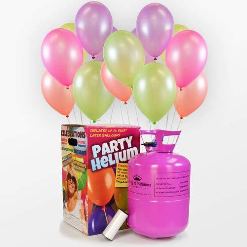 We Are Party Pack Bombona de Helio + 50 Globos NEÓN