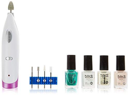 Promed Feeling - Aparato de manicura y pedicura, 2 niveles de velocidad, color blanco y lila