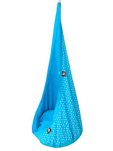 Grafinteriors RelaxMe - Sillón colgante para niños, diseño de la marca GI Design (azul claro/turquesa)