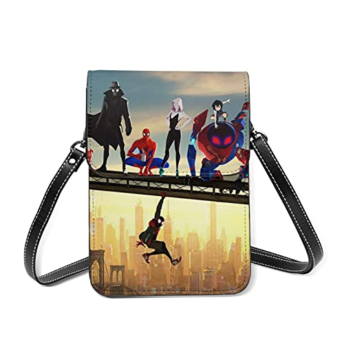 XCNGG Kleine Geldbörse S-Pider-Man Cell Phone Purse Small Crossbody Bag Women Leather Mini Cell Phone Pouch Shoulder Bag to Carry Dexterous Convenience with Adjustable Strap Wallets