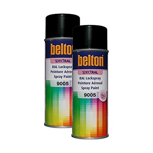 Kwasny 2 x 324 187 Belton Spectral Vernis en spray RAL 9005 Noir profond brillant 400 ml