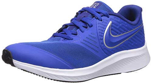 Nike Unisex-Kinder Star Runner 2 (GS) Sneaker, Blau (Game Royal/Metallic Silver 400), 40 EU