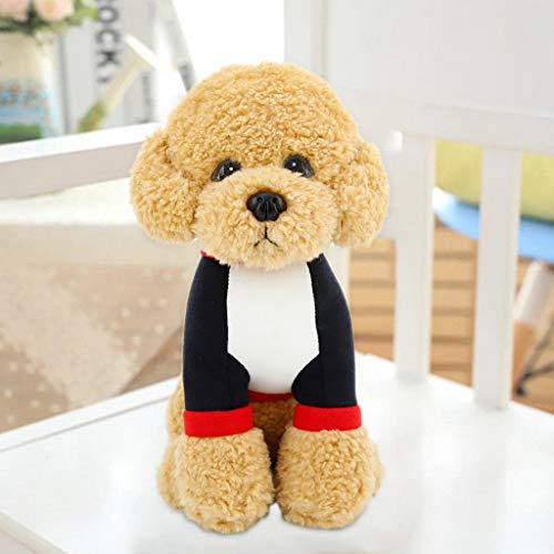 Hunpta @ 33 cm Weiches Plüschtiere Simulierter Teddy Hund Plüsch Spielzeug Stofftier Home Deko Kissen Plüschtier Junge Mädchen Kuscheltier Puppe Geburtstag Weihnachten Geschenk für Kinder