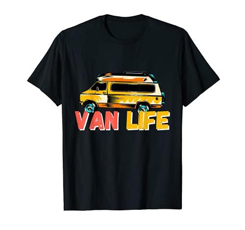 Van life Accessories VanLife Regalo Retro Vintage Camiseta