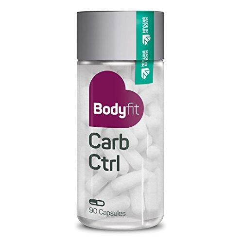 Bodyfit Carb Ctrl – Integratore alimentare dietico per bloccare l'assunzione di carboidrati – Per uomini e donne – Perdità di peso – Sentirsi più energetico – Digerire cibo pià efficiente – Ridurre la
