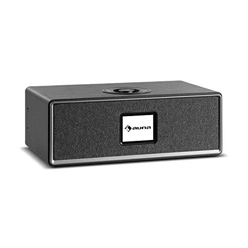 auna Simpfy - Altavoz inalámbrico, Sintonizador de Radio Internet, Dab+, Bluetooth, Pantalla LCD a Color de 2.8