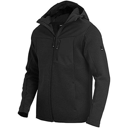 FHB 79900-20-L Hybrid-Softshell-Jacke Maximilian Größe L in schwarz, L