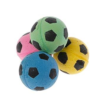 YU-HELLO Lot de 20 balles de Football en Mousse EVA sans Bruit pour Chat