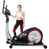 SNODE E20 Elliptical Exercise Machine, Cross Trainer Fitness Equipment with Hyper-Quiet Magnetic Driving System, with 8 Resistance Level, 265 lbs Weight Limit