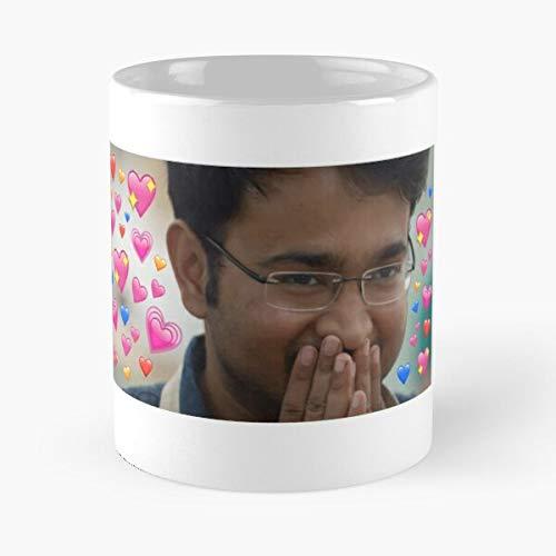 Rahul Hearts Great British Bake Off – Taza de café de cerámica de mármol blanco
