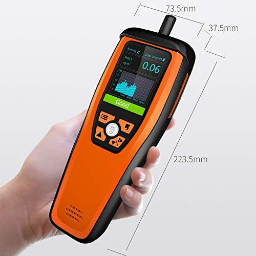 Temtop M2000 Monitor de calidad del aire para PM2.5 PM10 Partículas HCHO Temperatura Humedad Audio Alarma Monitor de CO2, Detector de CO2✩Garantía de tres años✩