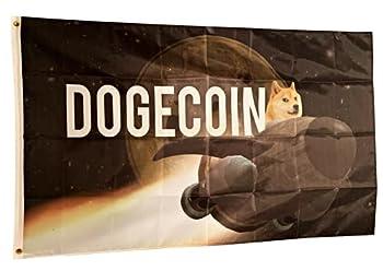 Bitcoinmerch.com - Flag Banner Poster Sign Dogecoin Spaceship 3 x5  36x60