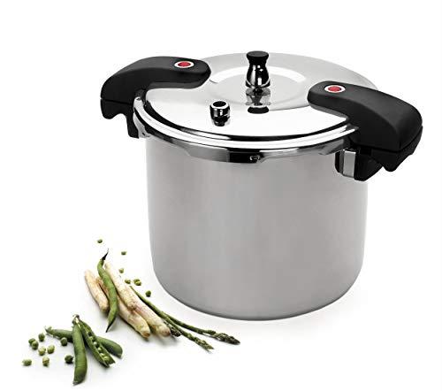 Lacor 71821-Olla a presión Chef, 20 L, Acero Inoxidable 18/10, 28 cm