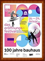 ポスター バウハウス 100 Jahre Bauhaus Festival 2019 white 額装品 ウッドハイグレードフレーム(ナチュラル)