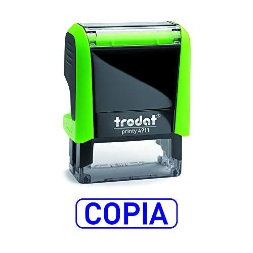 Trodat 4911 Printy Sello Fórmula Comercial con Texto COPIA, entintaje automático, Tamaño...