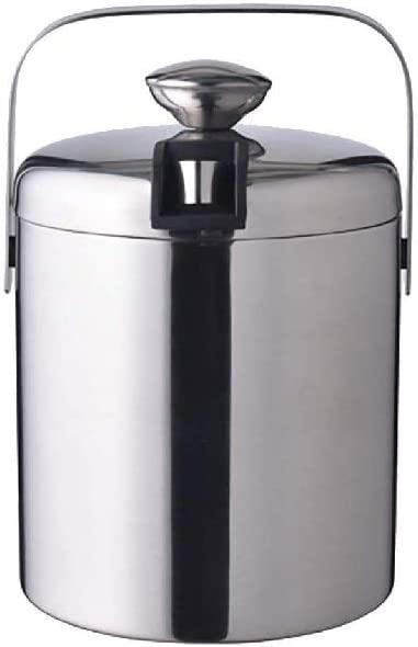 WJCCY Metal Ice Bucket- Shipping Max 52% OFF included Insulated Wall Design Qu Double Premium