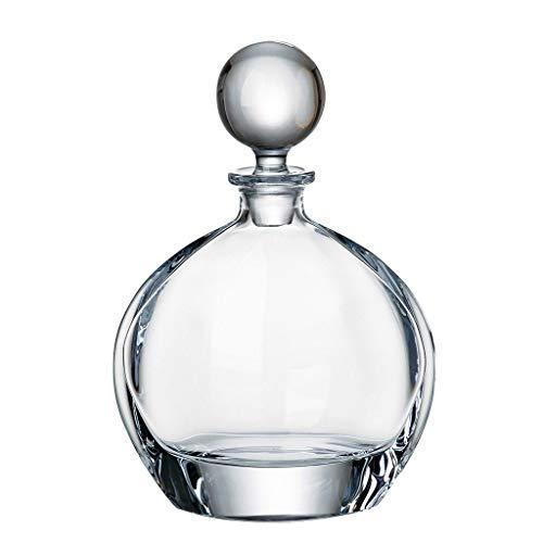 la galaica Bottiglia in Cristallo - Decanter - caraffa - per Whisky o liquori - Bohemia - Collezione Orbit - 16,5x10,5x24 cm.