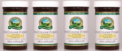 Naturessunshine Liver Cleanse Formula Herbal Combination Supplement 100 Capsules (Pack of 4)