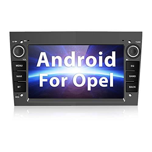 """Radio Coche Bluetooth para Opel con Sistema de Navegación, Autoradio Coche Android Estéreo de 7\"""" para Astra Antara Vectra Corsa Zafira Meriva vivara Vivaro Combo Signum Tigra Twin Top - Gris Hierro"""