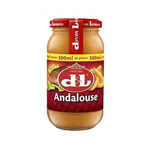 Devos & Lemmens Andalouse Sauce - 300 ml Flasche x 1 - Perfekt für Salate, kalte Fische und Fleischgerichte und natürlich Pommes Frites - recycelbarer Behälter