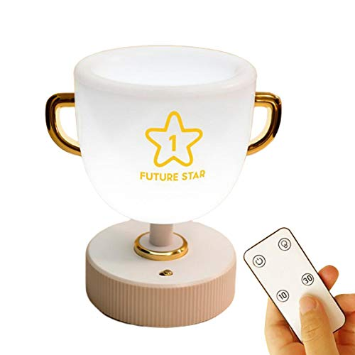 Pumprout Lámpara de Mesa de Taza de bolígrafo Creativa Lámpara de Escritorio de Control Remoto de Almacenamiento de luz de Siete Colores Lámpara de Aprendizaje de Lectura de Escritorio