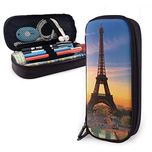 Estuches de lápices con cremallera multiusos para la oficina escolar - Torre Eiffel de París
