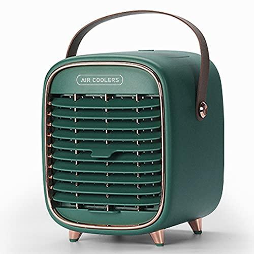 Mini Enfriador de Aire, Mini Aire Acondicionado portátil 3 en 1, Enfriador de Aire y humidificador, Ventilador y purificador con 3 velocidades Ajustables, hogar y la Oficina Portable Air Conditioner
